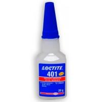 LOCTITE 401 SUPER GLUE INSTANT ADHESIVE 20G METAL RUBBER CERAMIC LEATHER